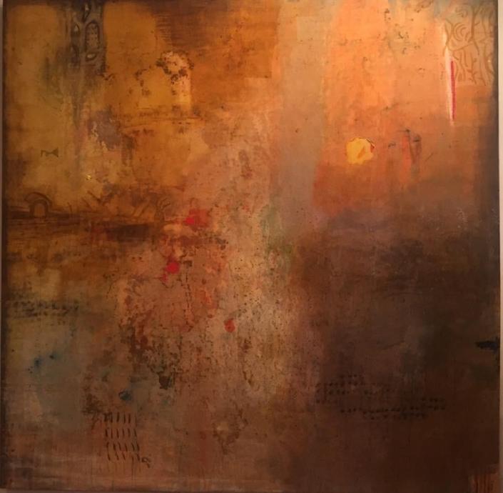 Acryl auf Leinwand 240 x 240 cm - sold