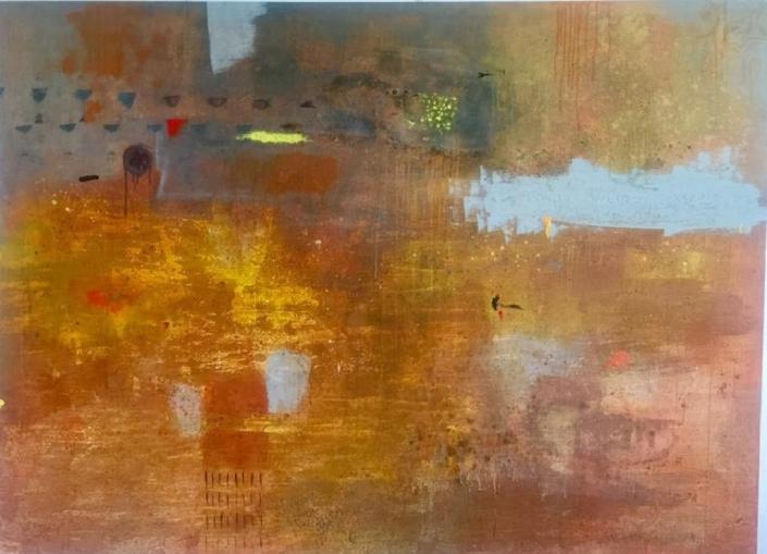 Acryl auf Leinwand 240 x 150 cm - sold